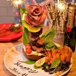 デート・記念日にオススメの肉のメッセージプレート。