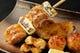 当店一番人気の古白鶏4種盛り合わせ。 皮パリッ、中ぷりジュワ~