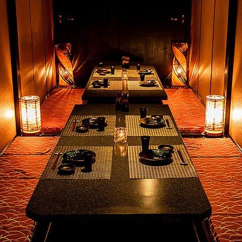 人数様に応じて最適な宴会個室!