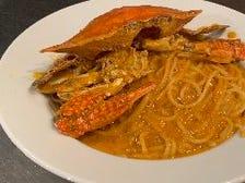 【定番人気!】渡り蟹のトマトクリームスパゲッティ