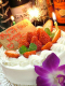 特別な日にはホールケーキでお祝いを・・♪ 12cm(2,3名様)¥1,500~
