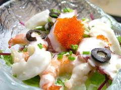 マリネした海の幸サラダ