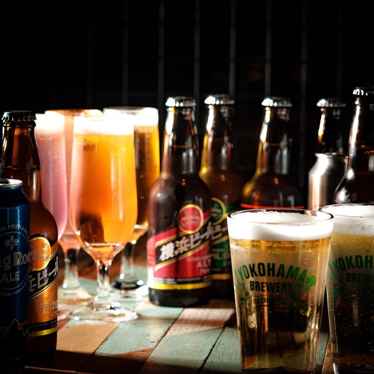 横浜最多!クラフトビールを30種類用意しています!!