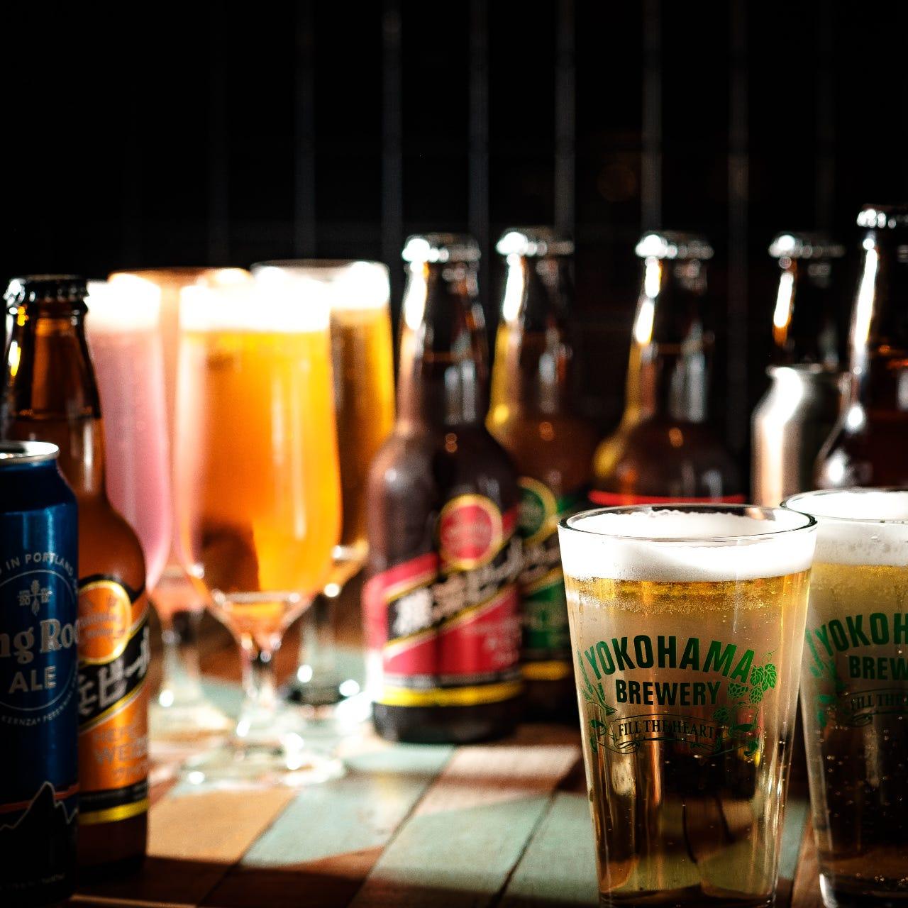 こだわりのクラフトビール30種類取り揃えております!