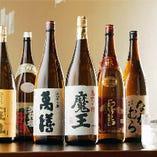 全国の銘酒20種以上、 焼酎30種以上 是非、お試し下さい