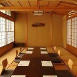 落ち着いた雰囲気のお座敷は最大16名様までご利用できます。