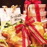 【主役の方限定!】メッセージ付きスペシャルローストチキンプレゼント!!歓送迎会や各種パーティおすすめ♪ 主役をびっくりさせちゃいましょう・・・!
