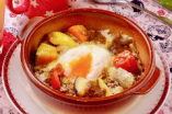 温野菜のミートエッグドリア