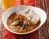 温野菜とひき肉のカリーライスSet