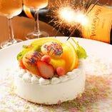 誕生日に1000円~ホールケーキご用意♪500円~デザートプレート