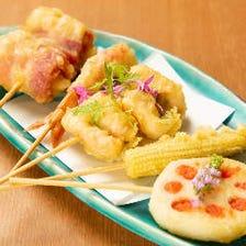 魚舟 名物の串天ぷら