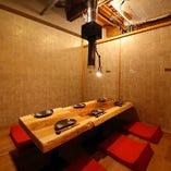 2階【掘りごたつ個室/2~18名様】清潔感のある和空間。少人数の飲み会から宴会まで