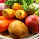 農薬を使わずに育った野菜の旨み、甘みを味わってください