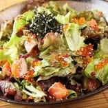 海鮮サラダはタンパク質も豊富!