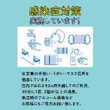 新型コロナウイルス感染症対策実施中