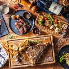 【1月限定プラン】九州産和牛肉寿司や炭焼きの牛フィレ肉をを含む7周年記念特別コース10品