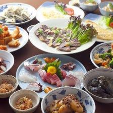 美味しい鮮魚と野菜を囲んで宴会を!