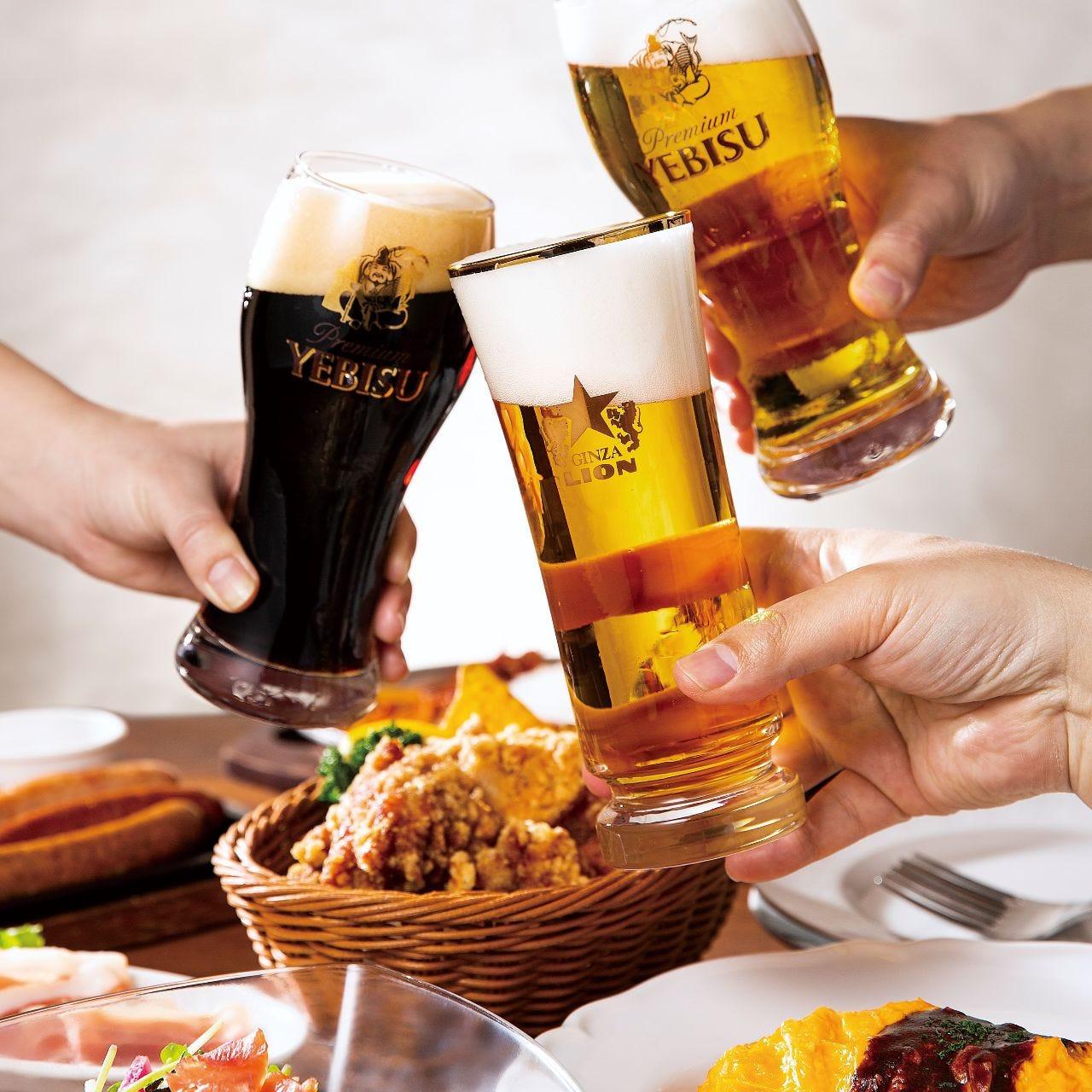 【老舗ビアホール】7種類の生ビール