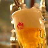 銀座ライオンこだわりの生ビールで乾杯♪