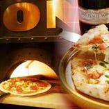 当店にはピザ用の窯があります。自慢の窯焼きピザをご賞味あれ!
