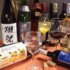 ソムリエ厳選の自然派ワインと地酒!!