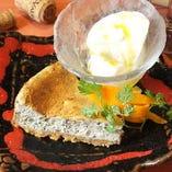 黒ゴマとクリームチーズの半熟チーズケーキ