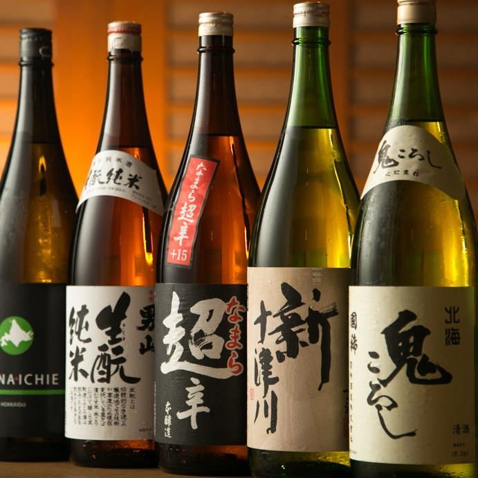 日本酒・焼酎の銘柄のご用意多数有り