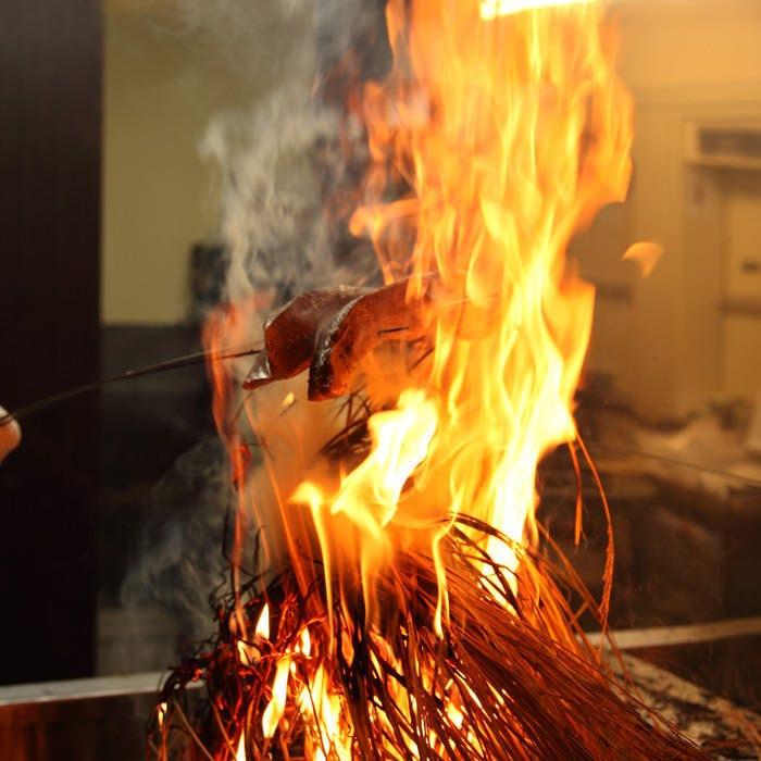 【こだわりの焼き物】備長炭や藁焼きなどこだわりの焼き物◎