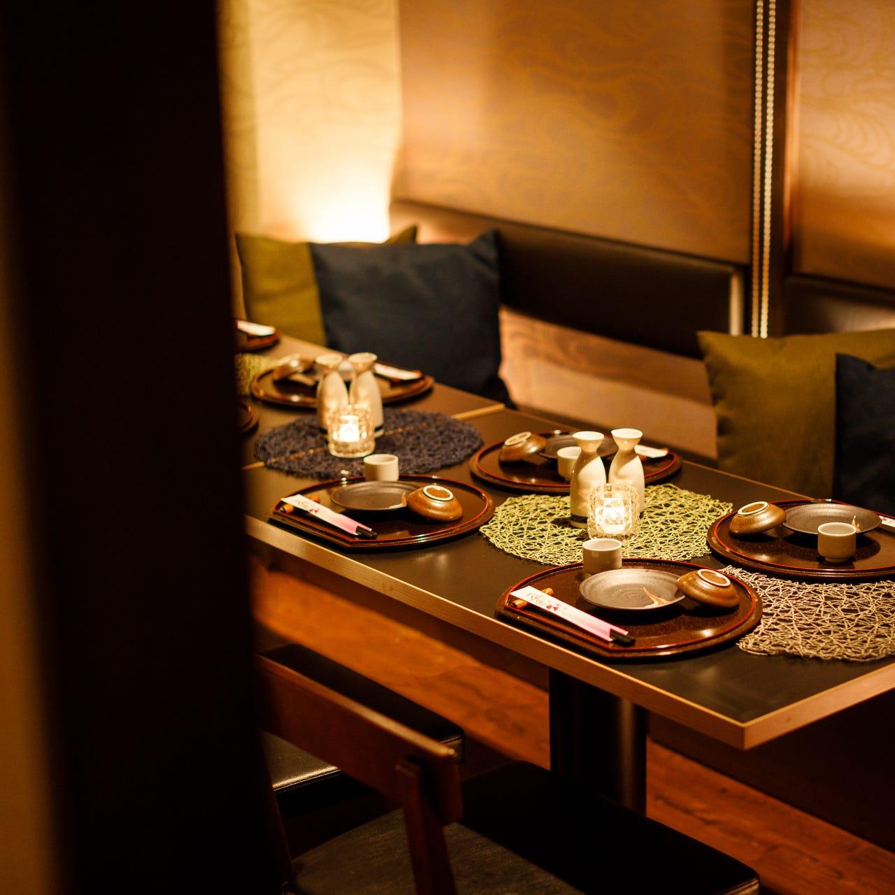 テーブル席・完全個室(壁・扉あり)・2名様~40名様