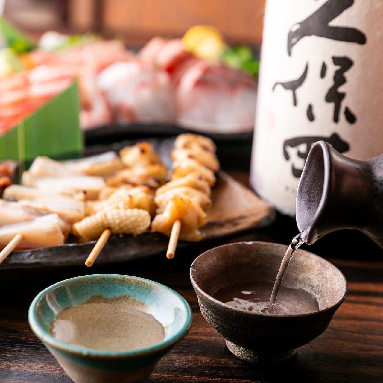 お料理との相性の良い、日本酒・焼酎を多数ご用意しております