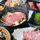 和牛ステーキすき焼き