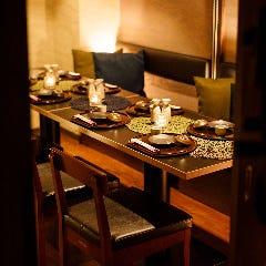 少人数・プライベート利用向けの個室・テーブル席