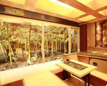 竹林の庭を眺めながら…