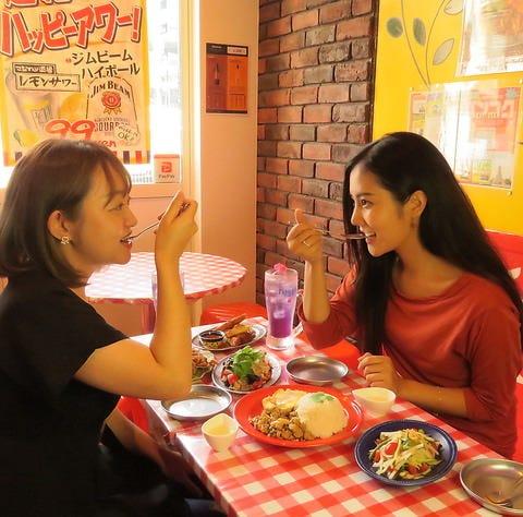 女子会にも人気のタイ料理