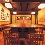純和風のテーブル席