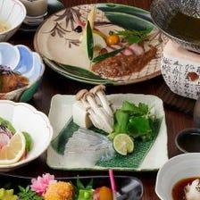 新鮮な鯛を使った自慢の鯛しゃぶに黒毛和牛ステーキを堪能『鯛しゃぶと鯛茶漬けコース』