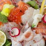 鮮魚のカルパッチョ サラダ仕立て