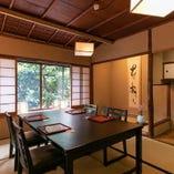 【2階テーブル座敷/2~10名様】高瀬川沿いの京情緒を感じられるお部屋