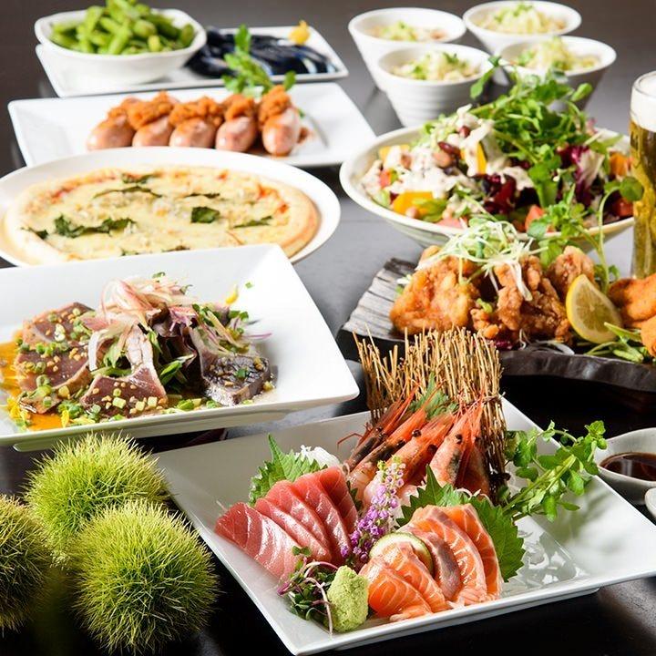 目利きした食材を贅沢に使用した料理