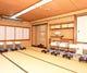 二階大広間は最大50名まで収容。 慶弔の宴席にも絶好の空間