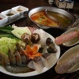 【全5品】2種類のお鍋を贅沢に味わう『二色鍋コース』