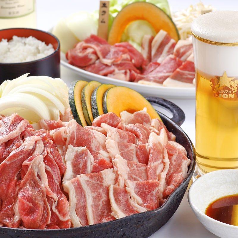『牛カルビ&生ラムジンギスカン食べ放題』