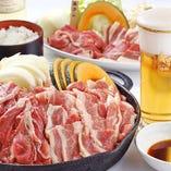 牛肉カルビ&生ラムジンギスカン食べ放題!