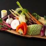 産地の野菜盛合せ