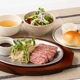国産牛 ランプいちぼステーキ定食