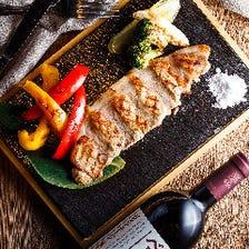 宮崎県産 あじ豚と野菜のグリル 宮古島の天然塩で