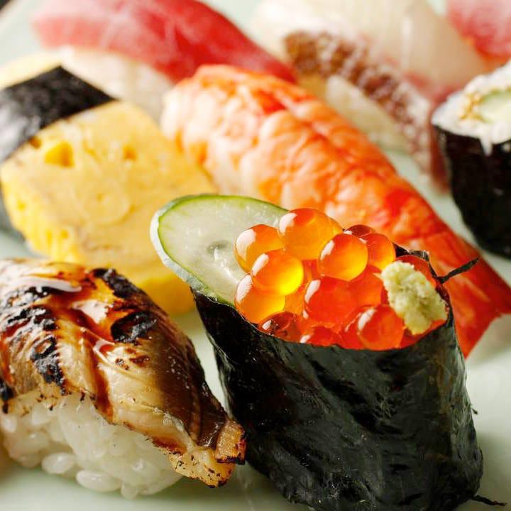 職人が握る本格江戸前寿司