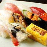 ◆旬握り寿司◆ 築地買い付けの新鮮握り。1貫200円~
