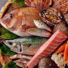 築地買い付けの新鮮魚介