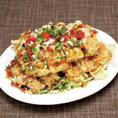 不動の人気No.2【油淋鶏】鶏の唐揚げ甘辛薬味ソース